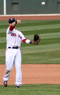 Pedroia throws 'round the horn | by ConfessionalPoet