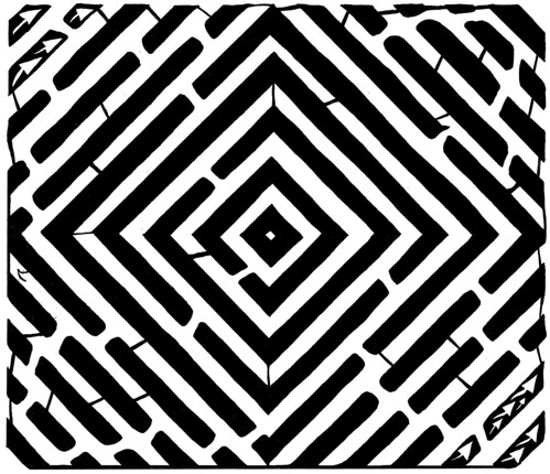 diamond-square-optical-illusion-maze-art-yonatan-frimer-psychedelic-mazes | by yfrimer