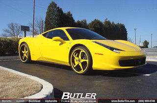 Ferrari 458 Italia with Forgiato Wheels | by Butler Tires and Wheels