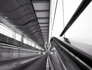 Long Way from the Gate to the Baggage Claim - Hamburg Airport, Germany | by Batikart