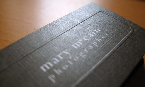 textured linen business card with embossing by inkurecom designprinting - Linen Business Cards