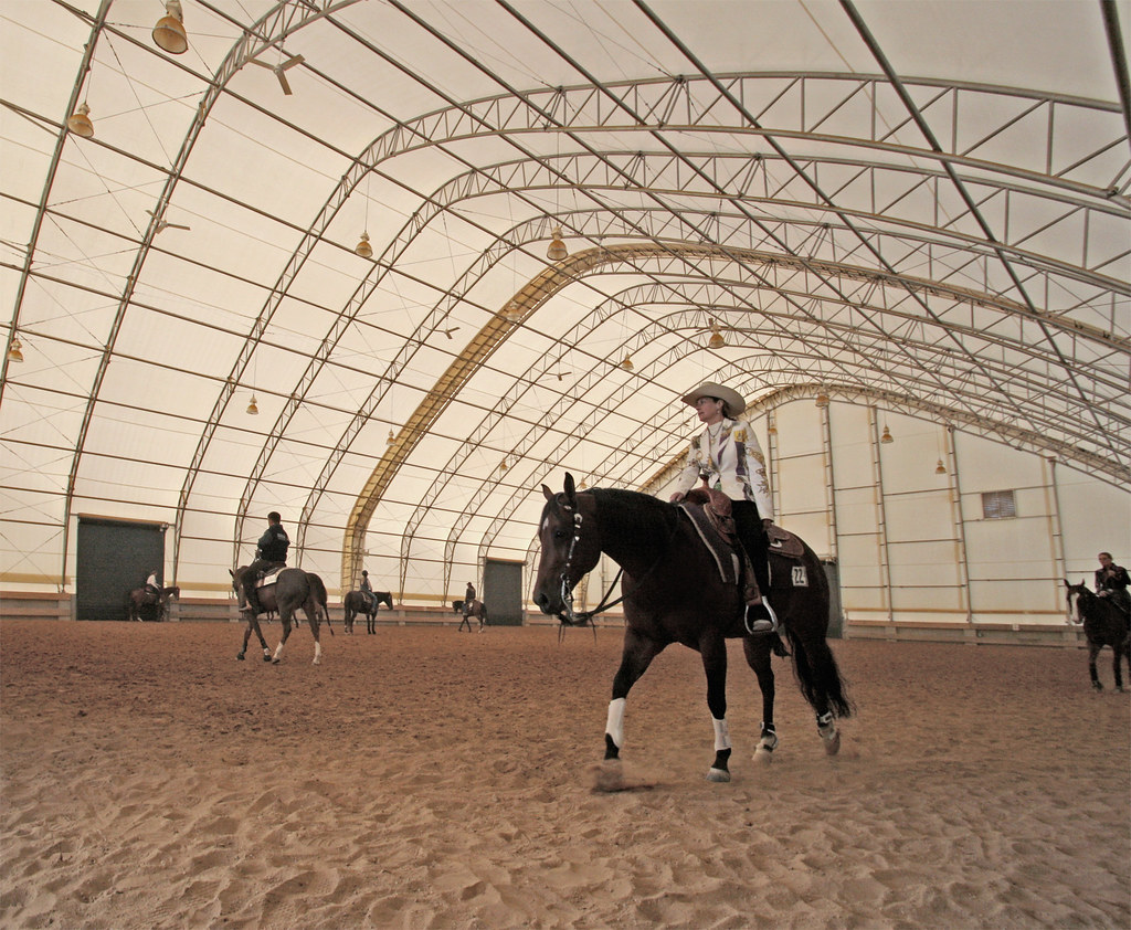 Indoor Riding Arena by ClearSpan | 120'W gothic style indoor