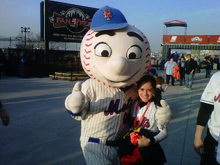 Alessandra and Mr. Met | by Dan.Tam.Al