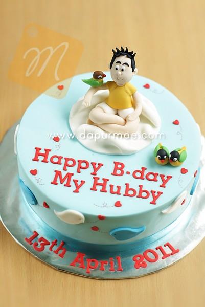 Love Birds Birthday Cake For Hubby 1204 Cicik Dapurmae Com Flickr