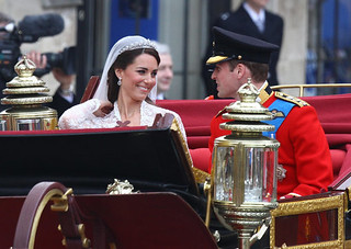 The Duke and Duchess of Cambridge leaving Westminster Abbey | by The British Monarchy