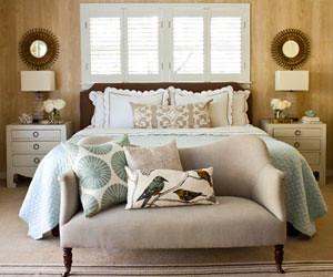 Aqua and Tan bedroom deenamn Flickr