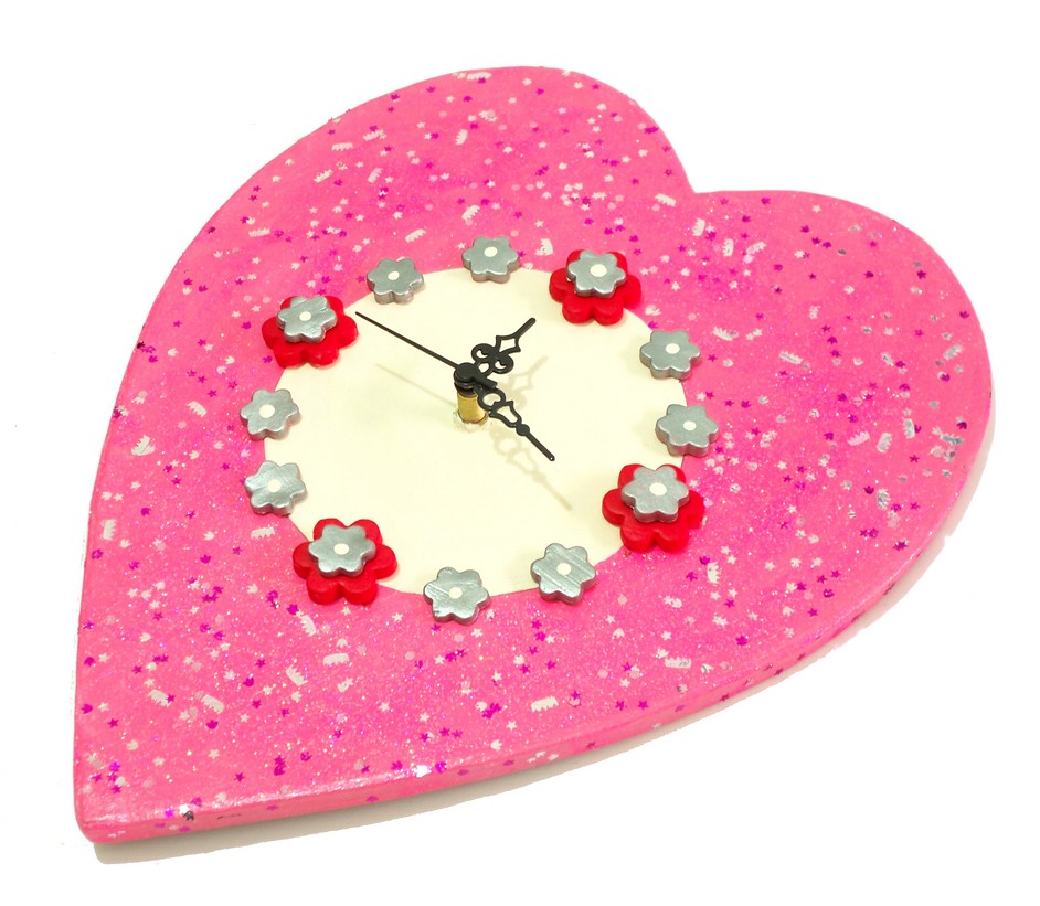 Heart Wall Clock Crafts Idea For Kids Family Day Craft Flickr