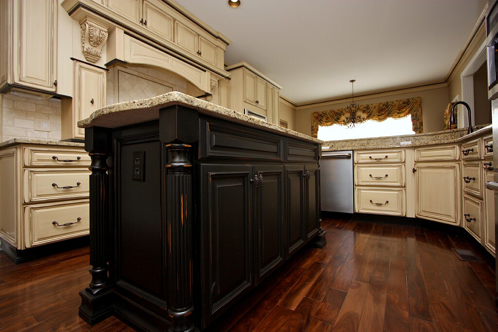 Custom Black Kitchen Cabinets