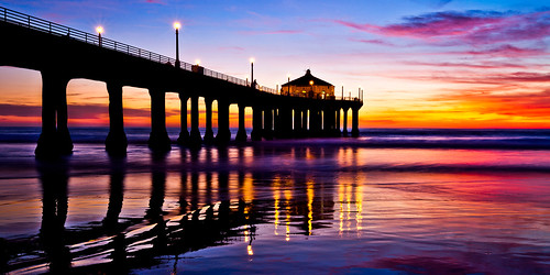 Manhattan Beach Wallpaper: Manhattan Beach Pier Sunset