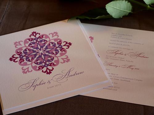 Alannah rose mauve on monday wedding invitations for 3d rose wedding invitations