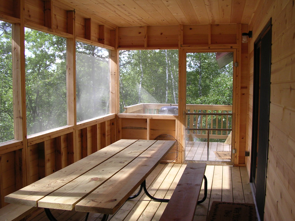 Screened Porch Sliding Door Leads To Living Room Flickr