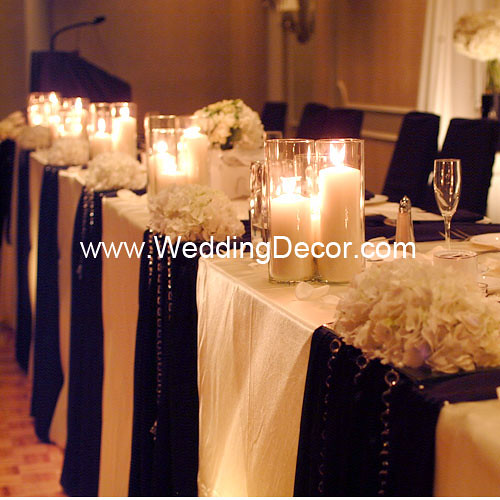 Head Table Decorations Black Ivory Head Table Decorati Flickr