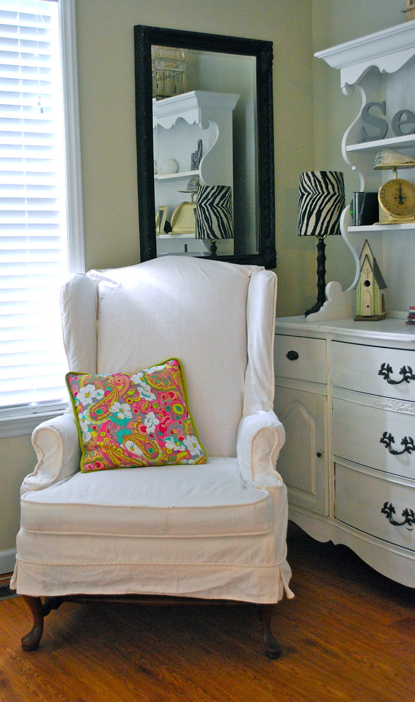 ... White Wing Chair Slipcover | By The Slipcover Girl