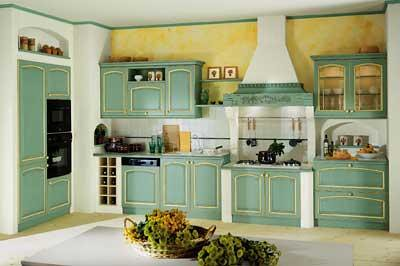Cucina country verde e muratura | Cucina in stile americano … | Flickr