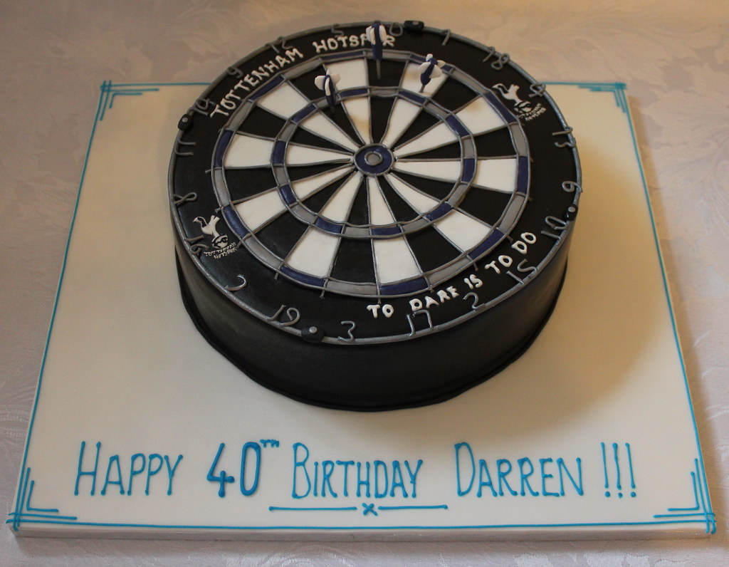 Spurs Dartboard Birthday Cake Pauls Creative Cakes Flickr