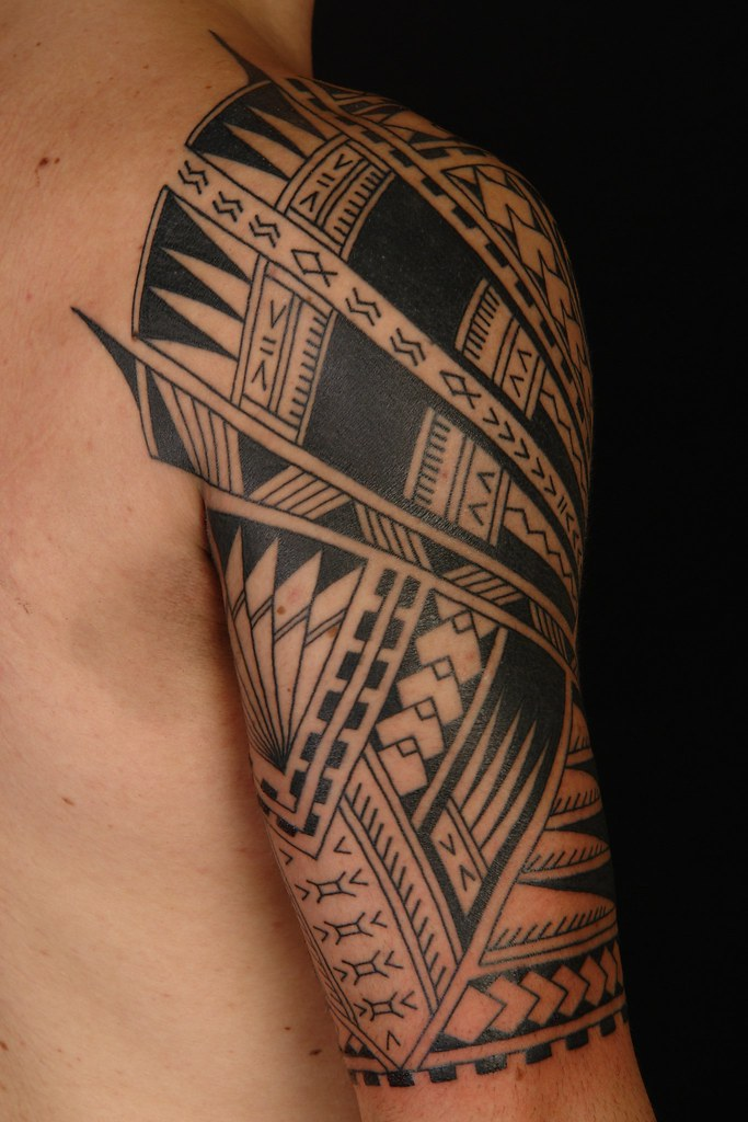 Polynesian Half Sleeve On Vini 3 Koru Tattoo Flickr