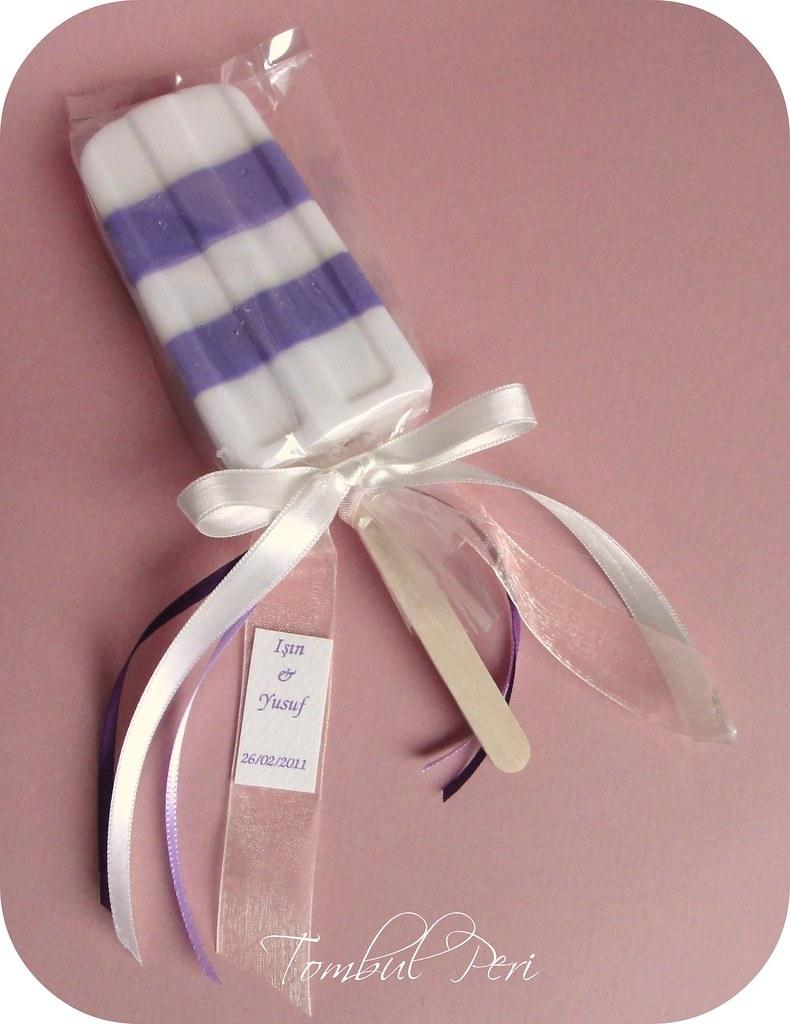 Wedding Favor - Soap   Popsicle shaped soap tombulperi.blogs…   Sila ...