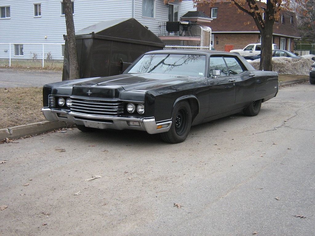 Murdered Out Gangster Car 1970 Lincoln Continental Flickr