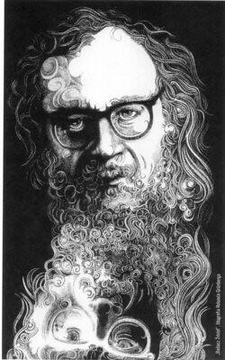 Jerzy Grotowski Na Litografii Rolanda Grunberga