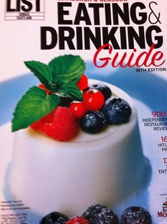 The List Eating and Drinking Guide 2011-2012 | by www.theedinburghblog.co.uk