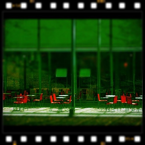Orange Chairs w #Nitrate filter & #IGtiltshift | by koduckgirl