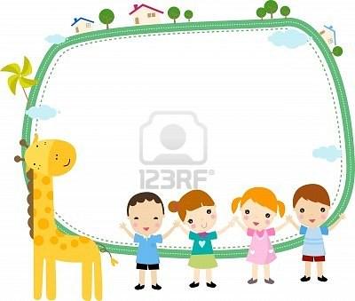 8887698 marco de ninos lindos dibujos animados imagenes - Dibujos animados para bebes ...
