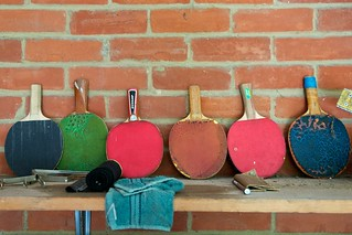 Table tennis bats in the garage | by humbert15