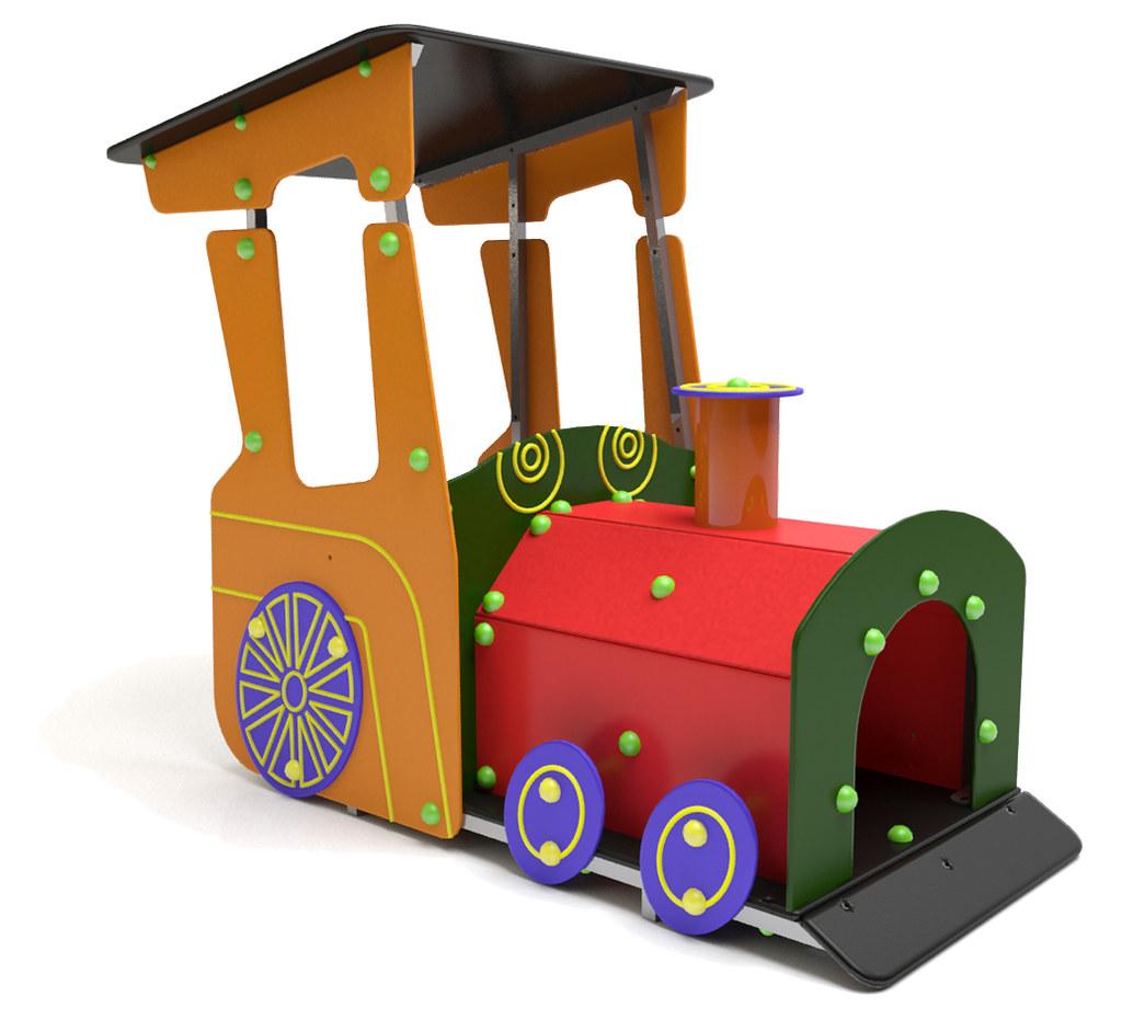 juego infantil con forma de mquina locomotora tren by mobipark mobiliario urbano y parques