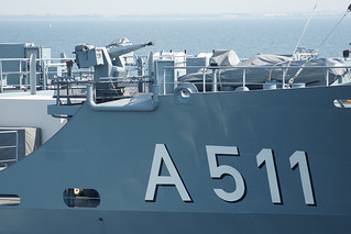 German Navy Elbe-class replenishment ship Elbe A511