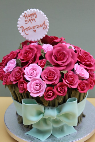 Images Of Birthday Cake With Bouquets : Rose Bouquet Alliance Bakery Flickr