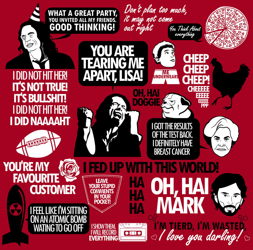 The Room Quotes The Room Quotes | Available as a shirt at: .redbubble.com… | Flickr The Room Quotes