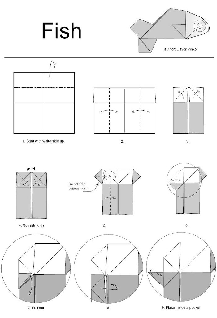 Origami Fish Diagram Block And Schematic Diagrams