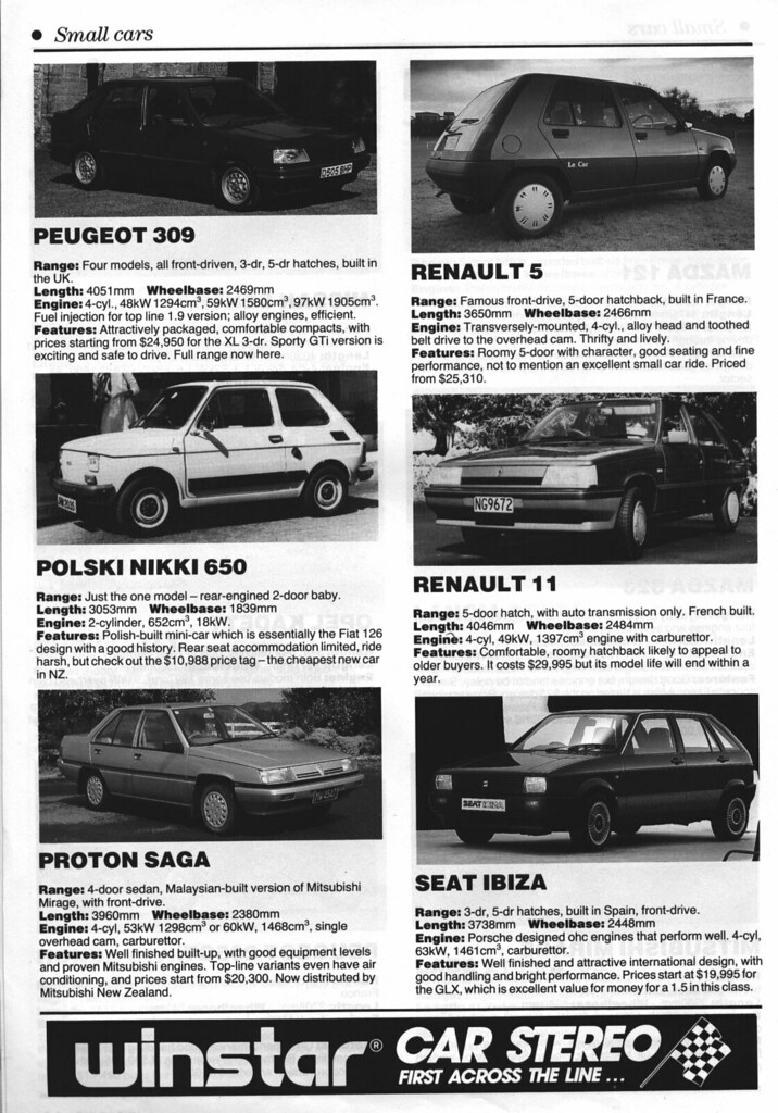NZ Buyer\'s Guide 1988 - Small Cars | Well, I need to get the… | Flickr