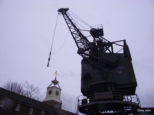 Dockyard Clock and Crane | by CJFIZZ home and happy.