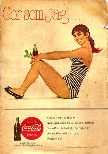 Coca Cola ad, 1957 | by negative four
