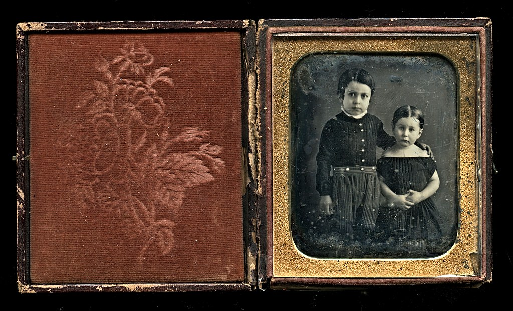 Big Brother, Little Sister, 1/6-Plate Daguerreotype, Circa… | Flickr