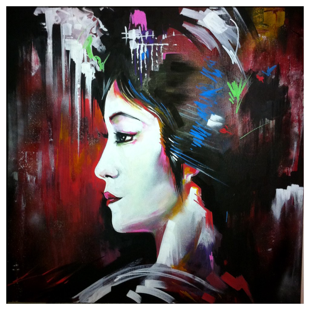 the painted lady new canvas painting sold followin flickr