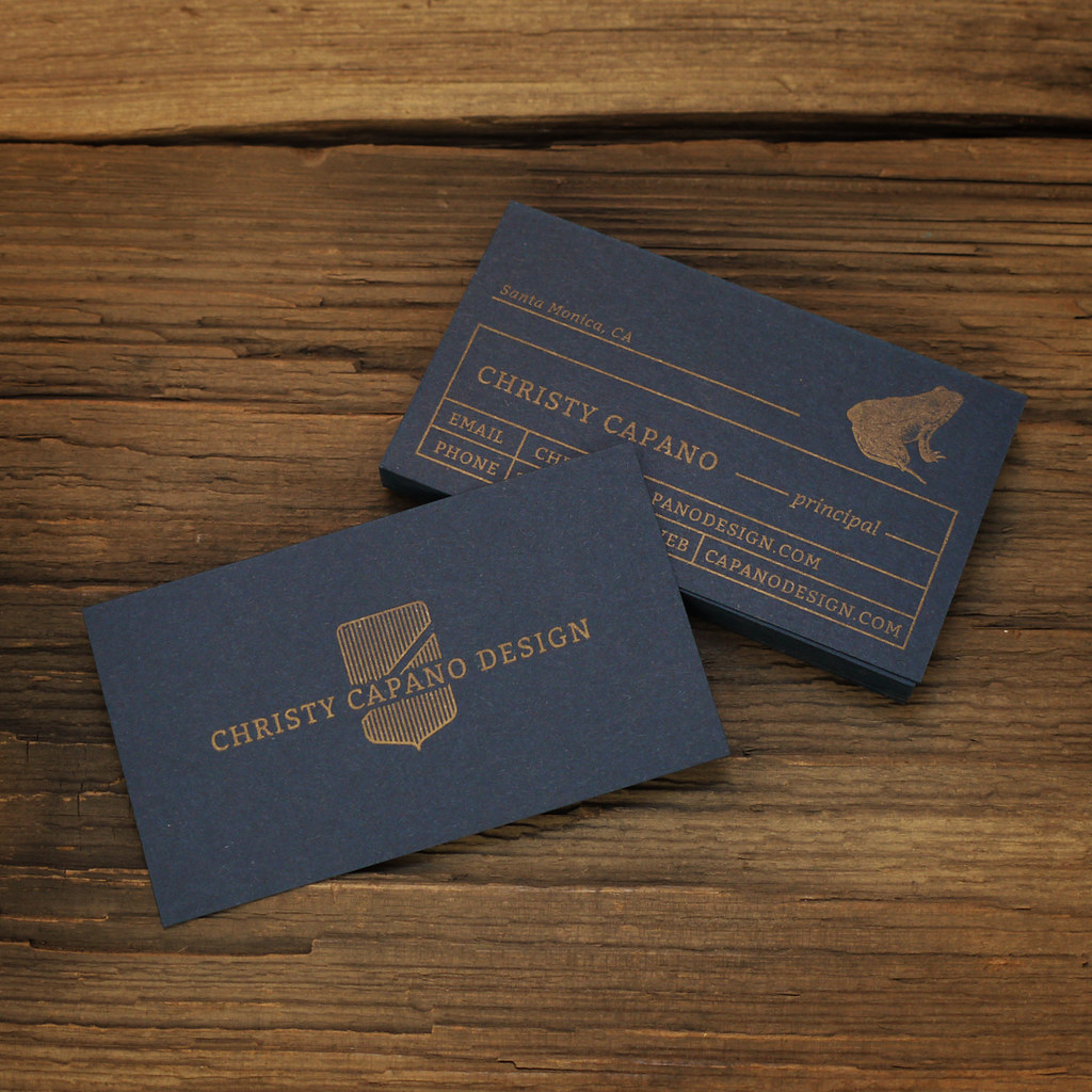 Gold on blue letterpress business cards mike james flickr gold on blue letterpress business cards by mikegalore colourmoves