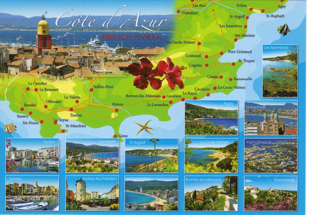 map cote d azur