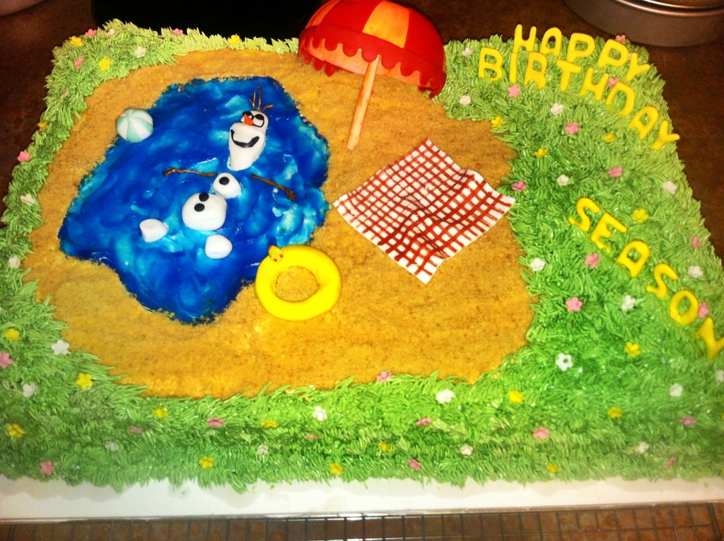 Olaf In Summer Birthday Cake Sandpoint City Sweets Cake Design