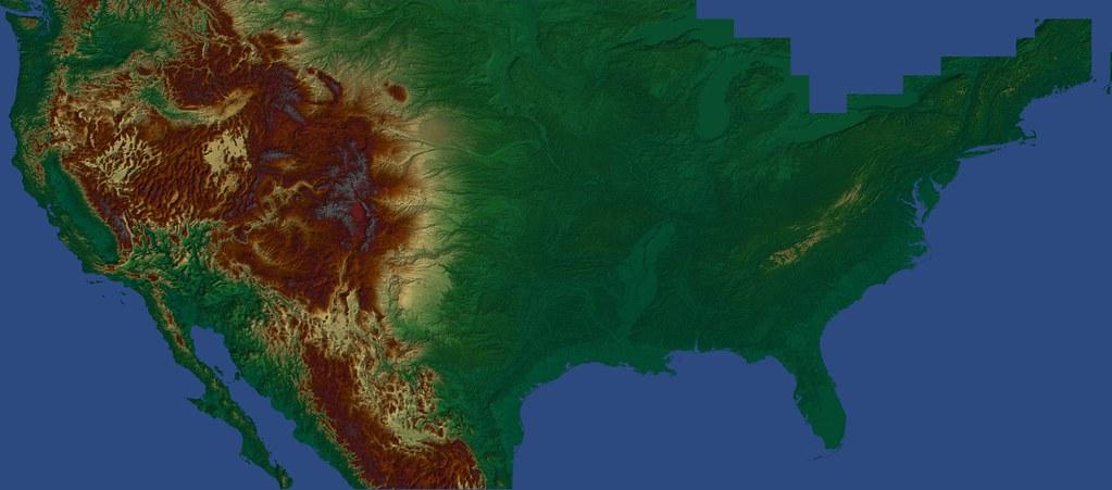United States Digital Elevation Model | Digital elevation mo… | Flickr