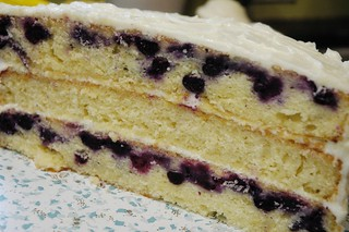 Triple lemon blueberry cake | by emmmylizzzy