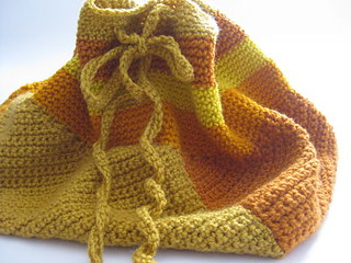 Crochet_bag mustard colours | by CraftyRie.blogspot.com