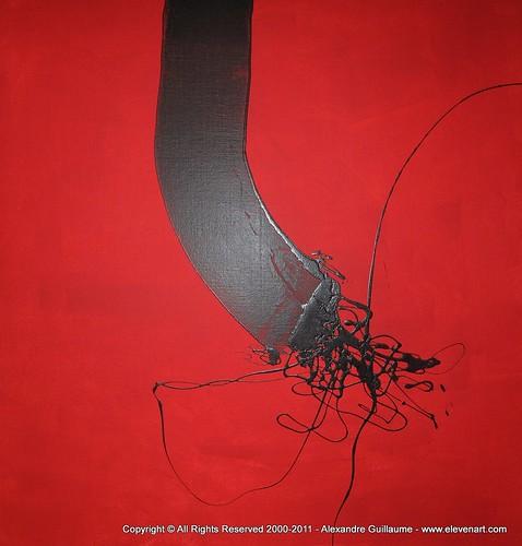 m648r peinture abstraite noire art contemporain paris