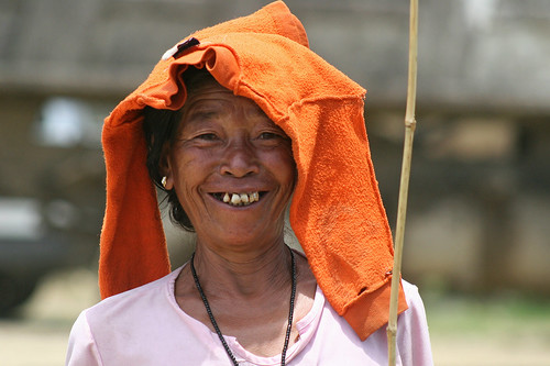 Portrait of a smiling woman in Manipur, India. | by cookiesound