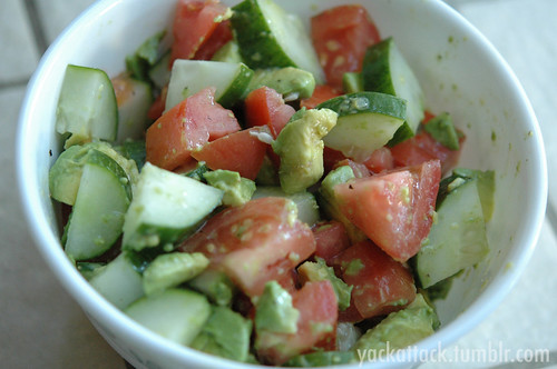 Cucumber Tomato Avocado Bowl | by Yack_Attack