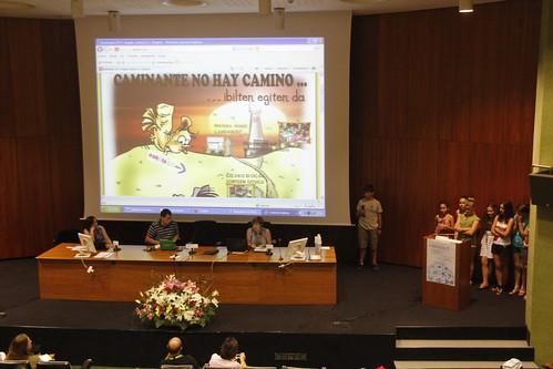 Alumnado exponiendo sus blogs en Ikasblogak 2011