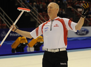 Basel Switzerland.April7_2012.Men's World Curling Championship.Canadian skip Glenn Howard.CCA/michael burns photo | by seasonofchampions
