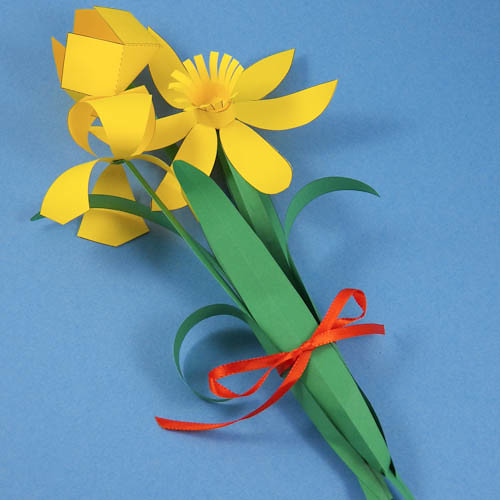 Paper Flowers Iris Daffodil And Tulip Spring Flower