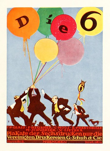 """Die 6"" Poster by Emil Preetorius, 1914 